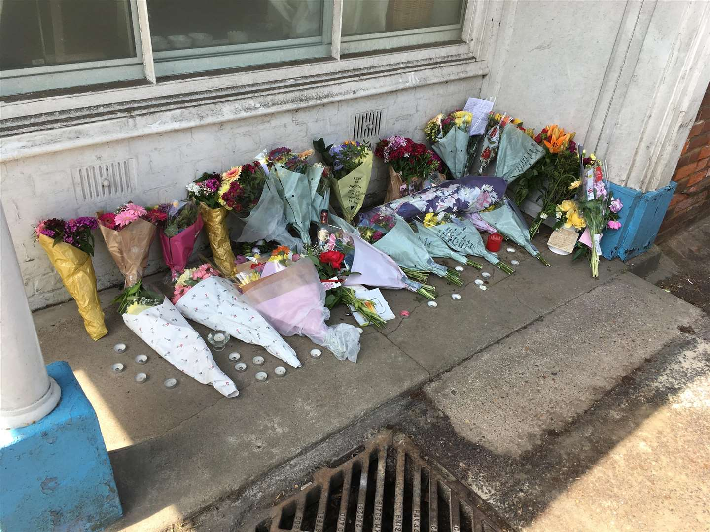 Floral tributes were left in Wateringbury for 21-year-old Ellis Overy who died in a motorcycle crash