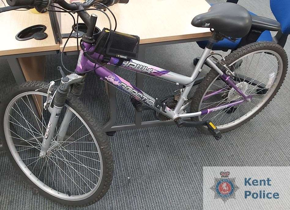 The stolen bike is believed to have been taken outside a supermarket in Dartford