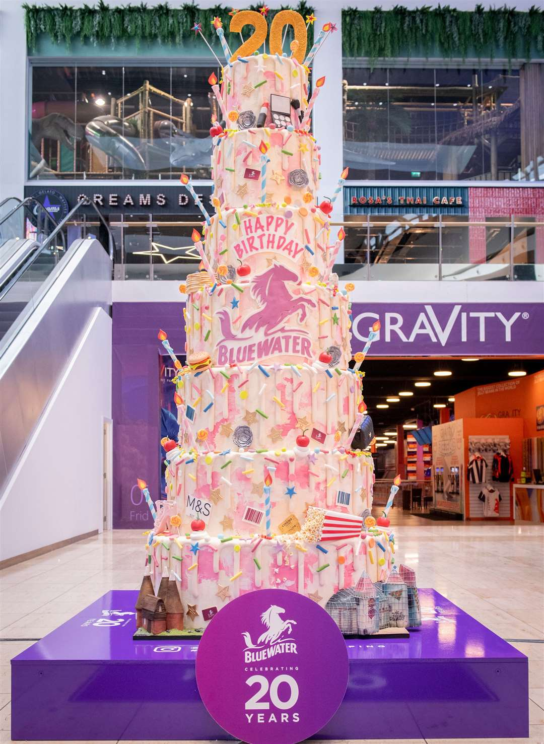 Bluewater's impressive 20th birthday cake