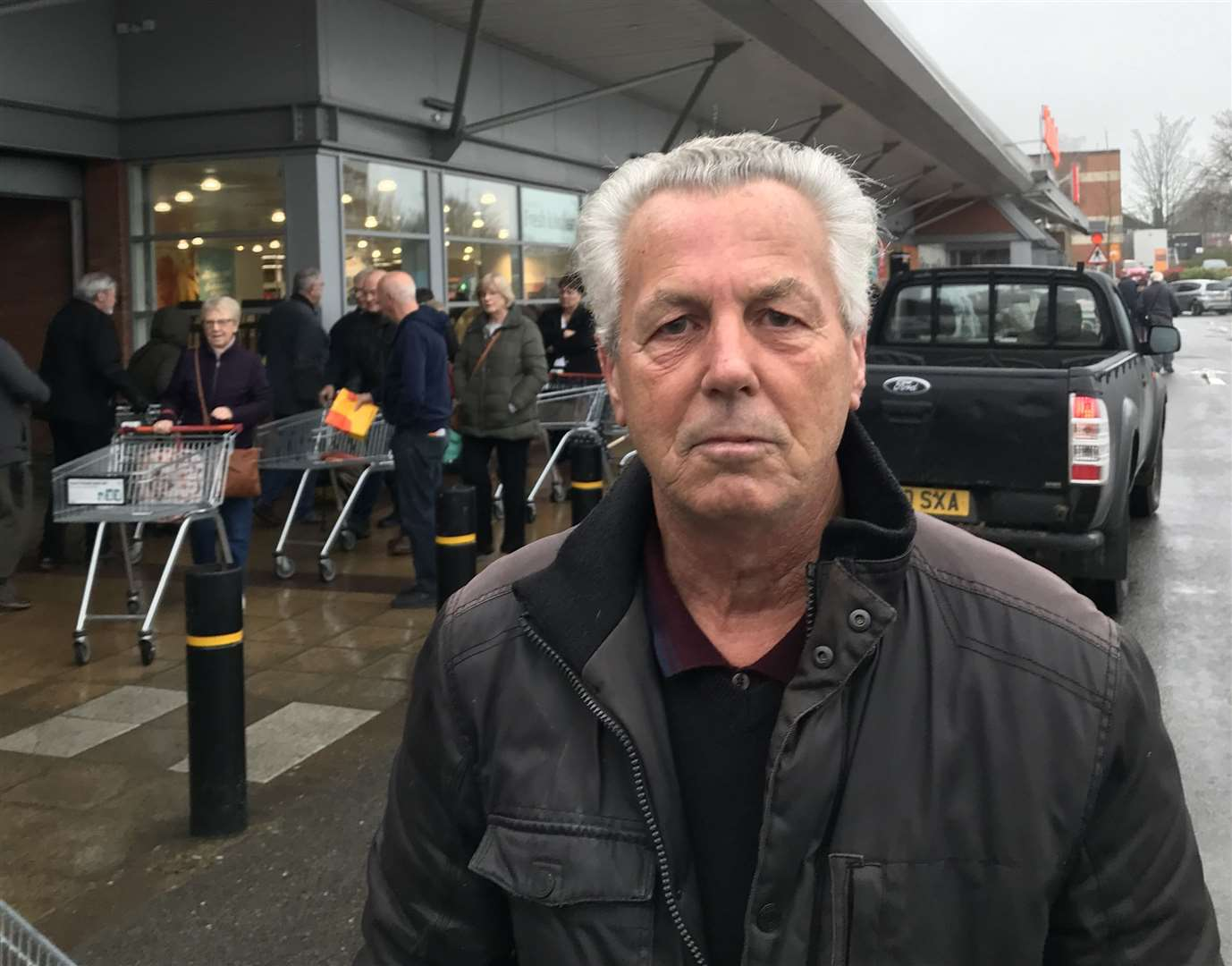Bernard Poultney, 70, of School Lane, Iwade, was among those in the queue at Sainsbury's in Sittingbourne