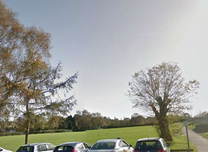 The travelers have set up camp at Hollybush Recreation Ground. Picture: Google