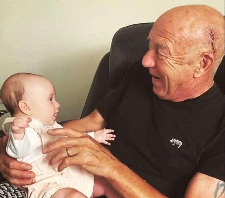 Ella and her grandad Allan Jordan. Picture: James Jordan