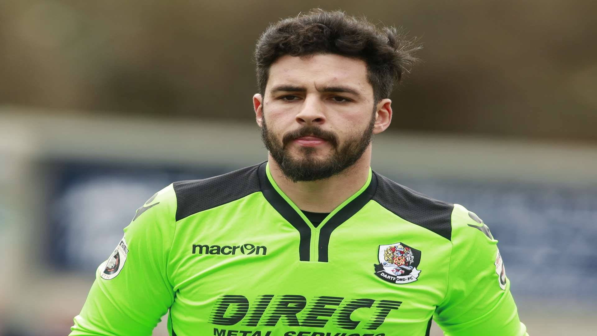 Dartford and Gibraltar goalkeeper Deren Ibrahim Picture: Martin Apps