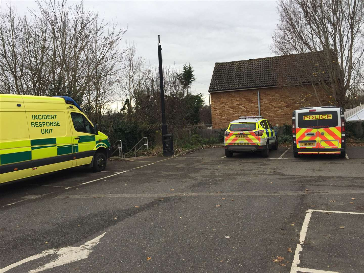 Police, paramedics and the rescue team are at the scene in West Malling