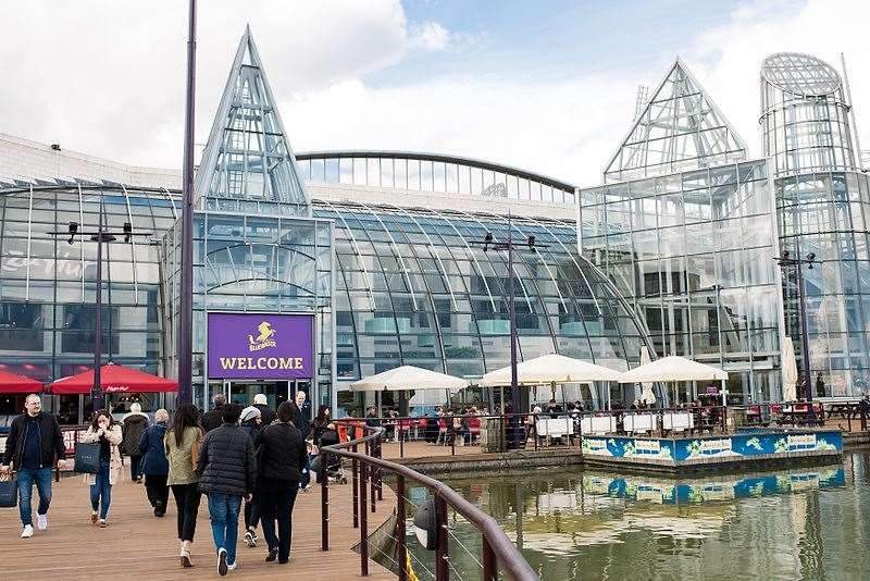 A 'brawl' erupted between a group of young boys at Bluewater earlier today