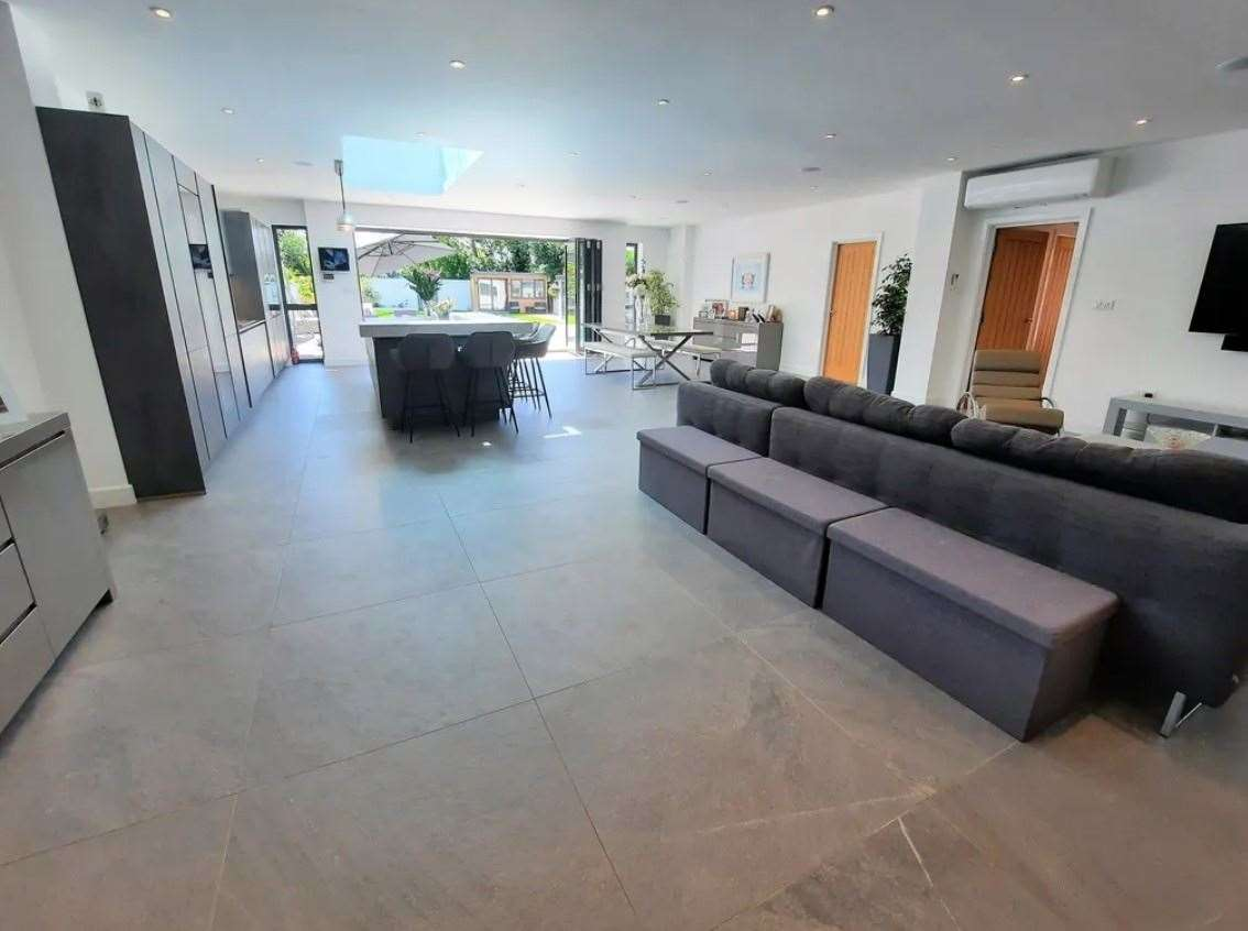The kitchen/living room hub of the home. Picture: Zoopla / Machin Lane Partnership