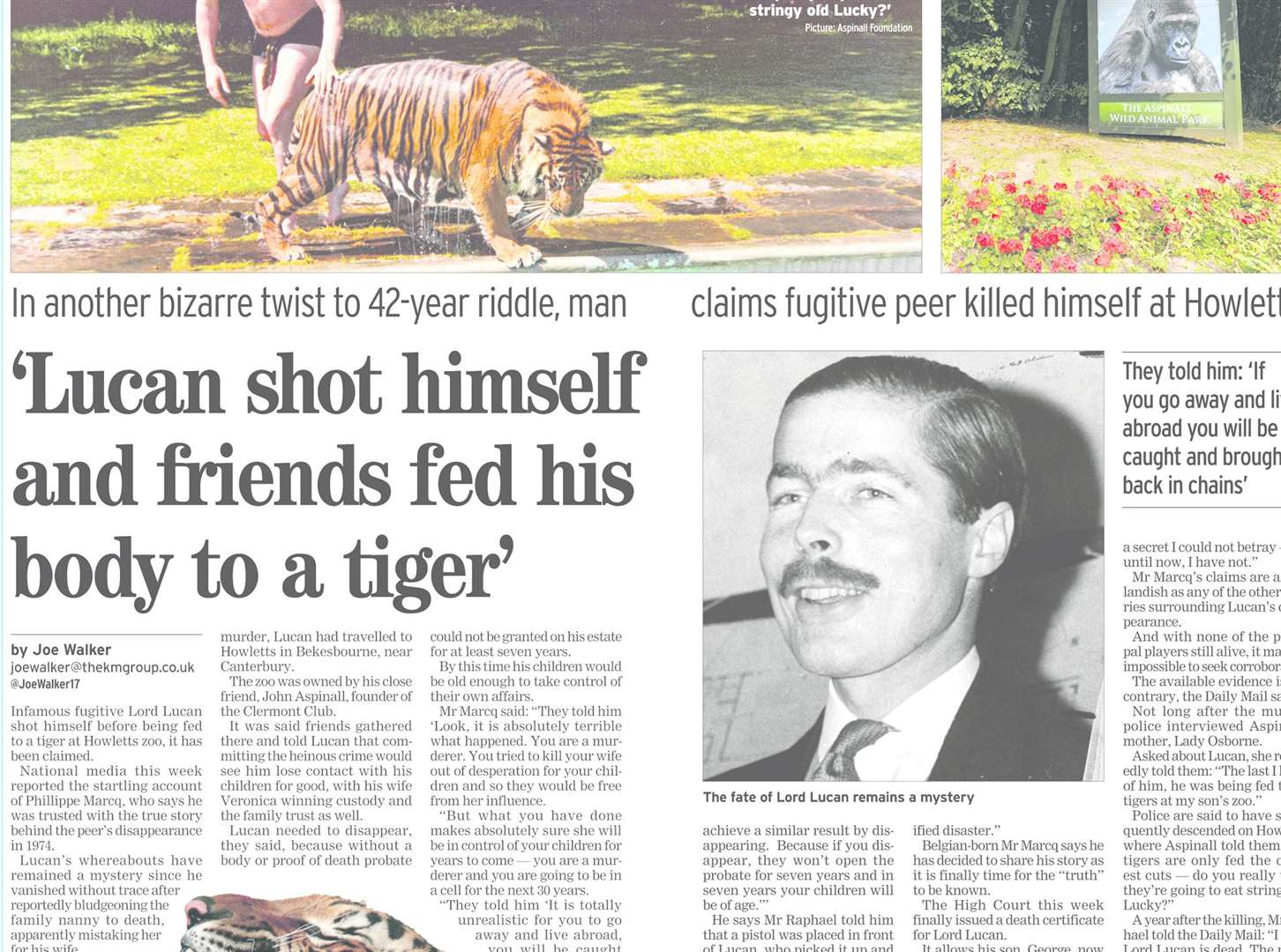 How our sister title, the Kentish Gazette, revealed one of the recent revelations about Lord Lucan's fate