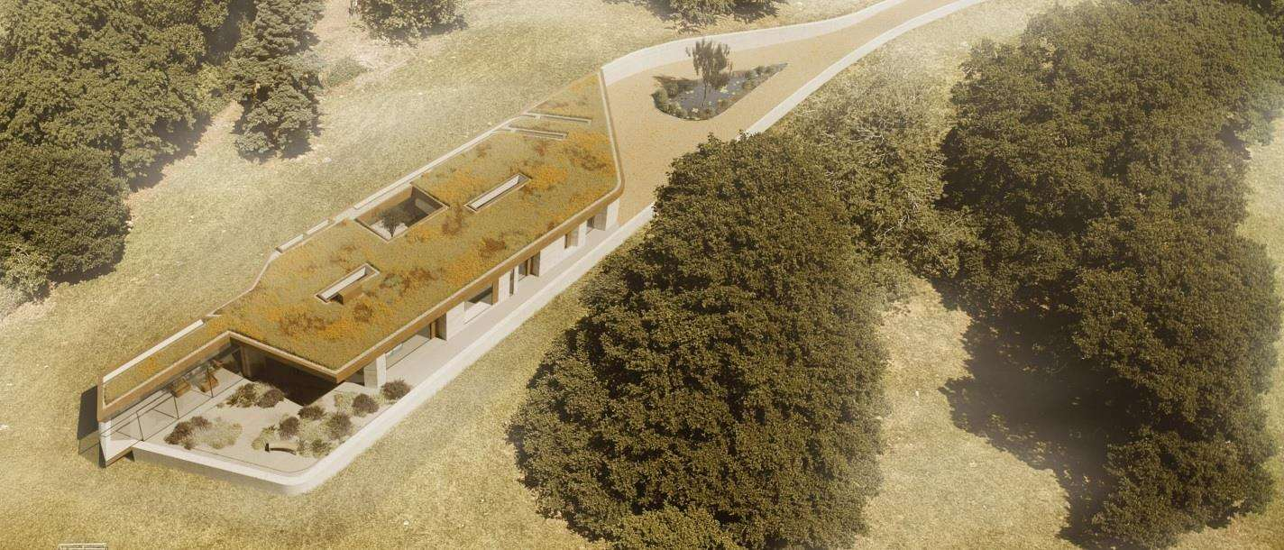 Deer will be able to walk onto the green roof