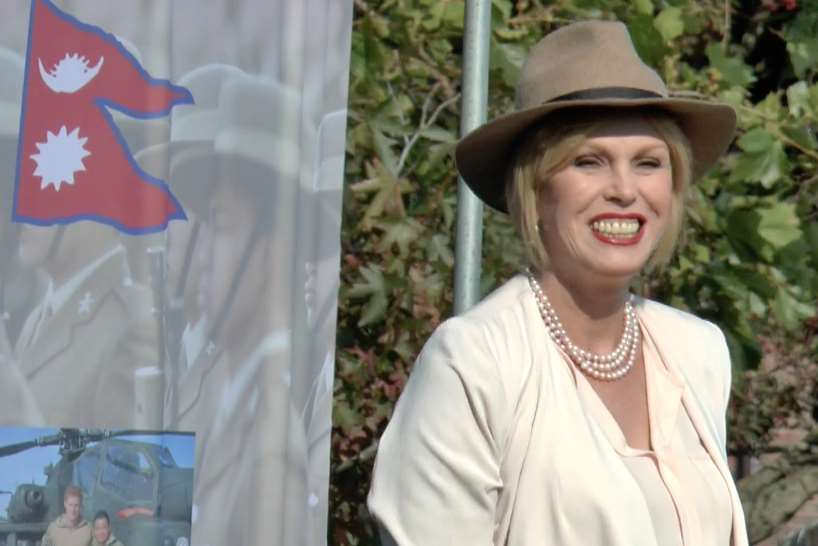 Joanna Lumley revealed the memorial today in Folkestone