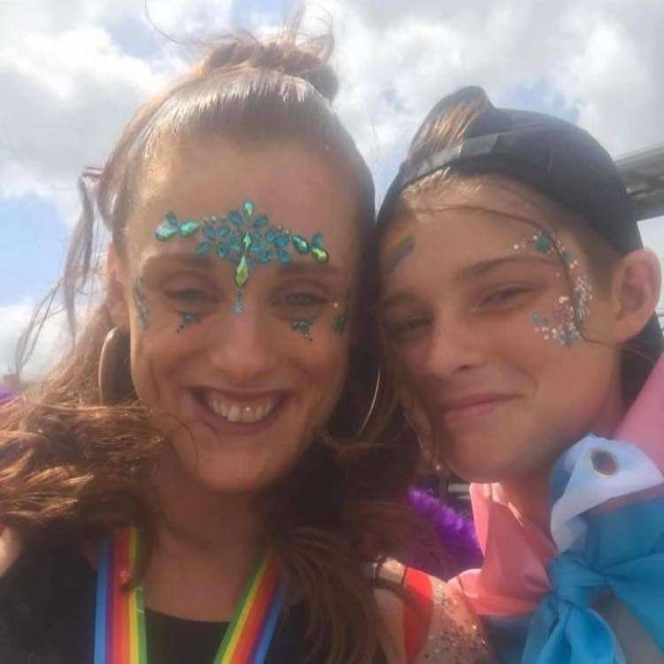Natasha Murphy and Ellis Murphy-Richards together at a Pride event