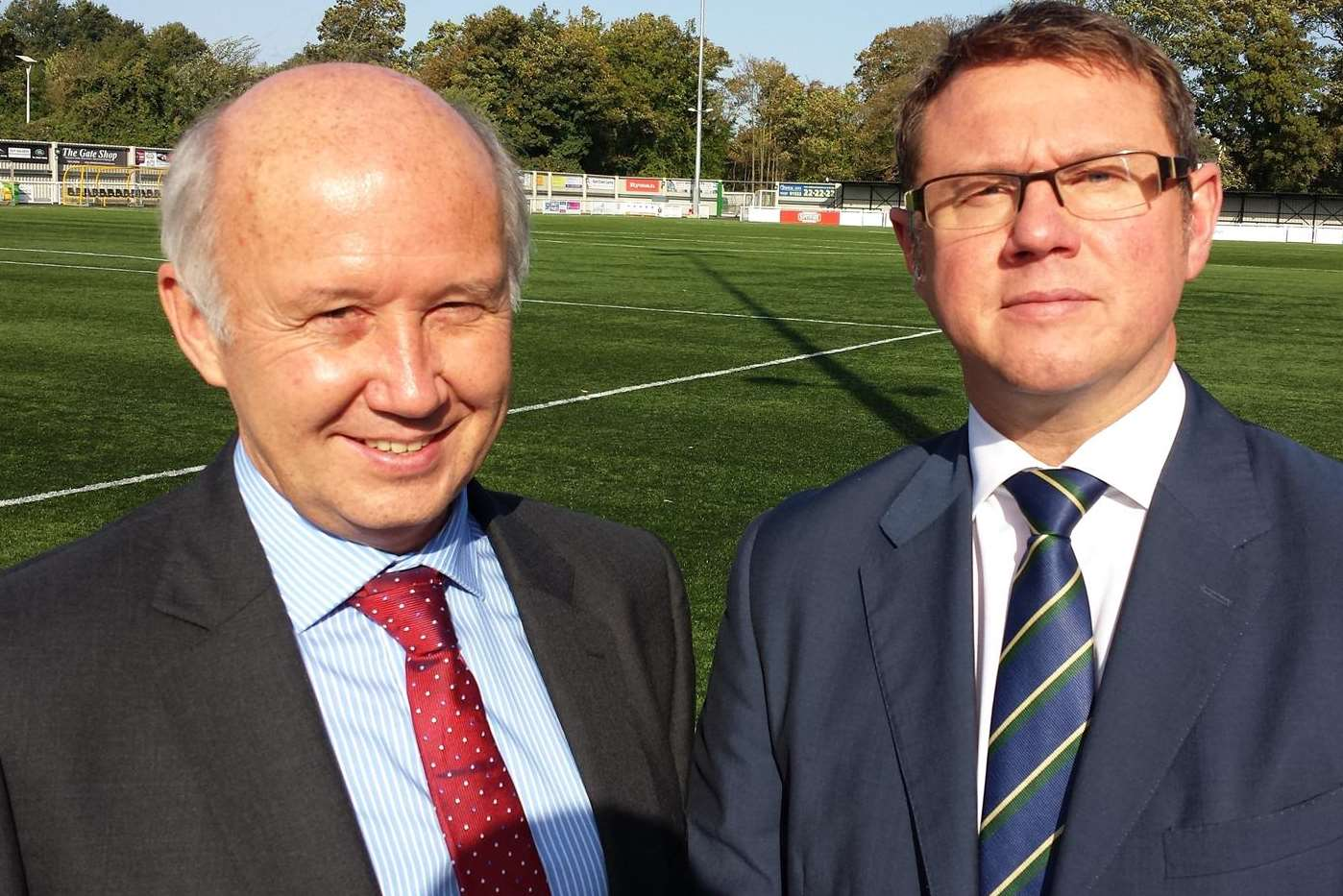 Chris Blundell, left, of Golding Homes and Huw Edwards of Barton Wilmore
