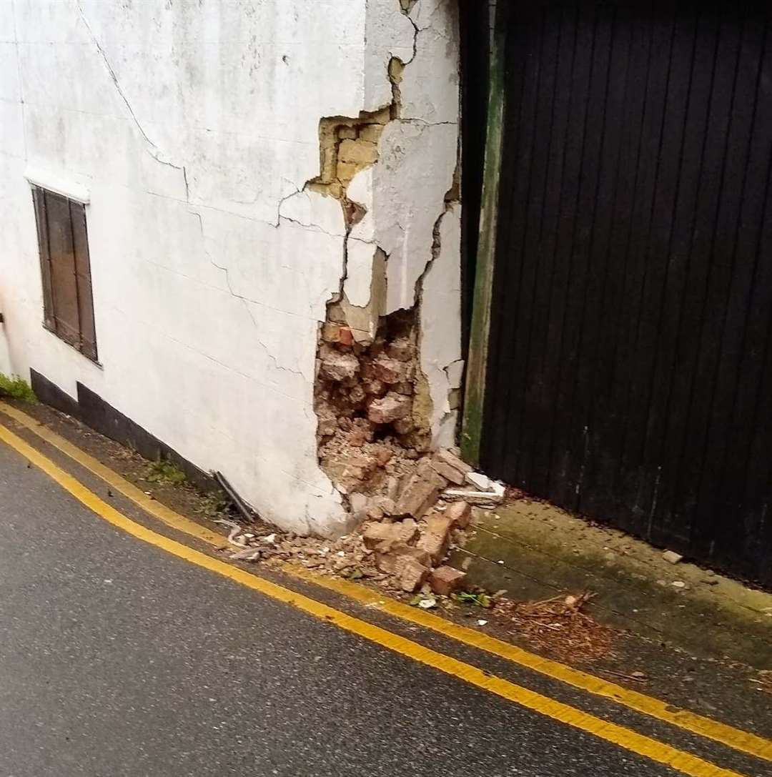 Damage caused to the Honeysuckle Inn, Ramsgate. Picture: Leigh Thompson