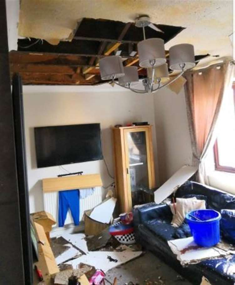 George Dodgson's family home in Twydall was severely damaged in January