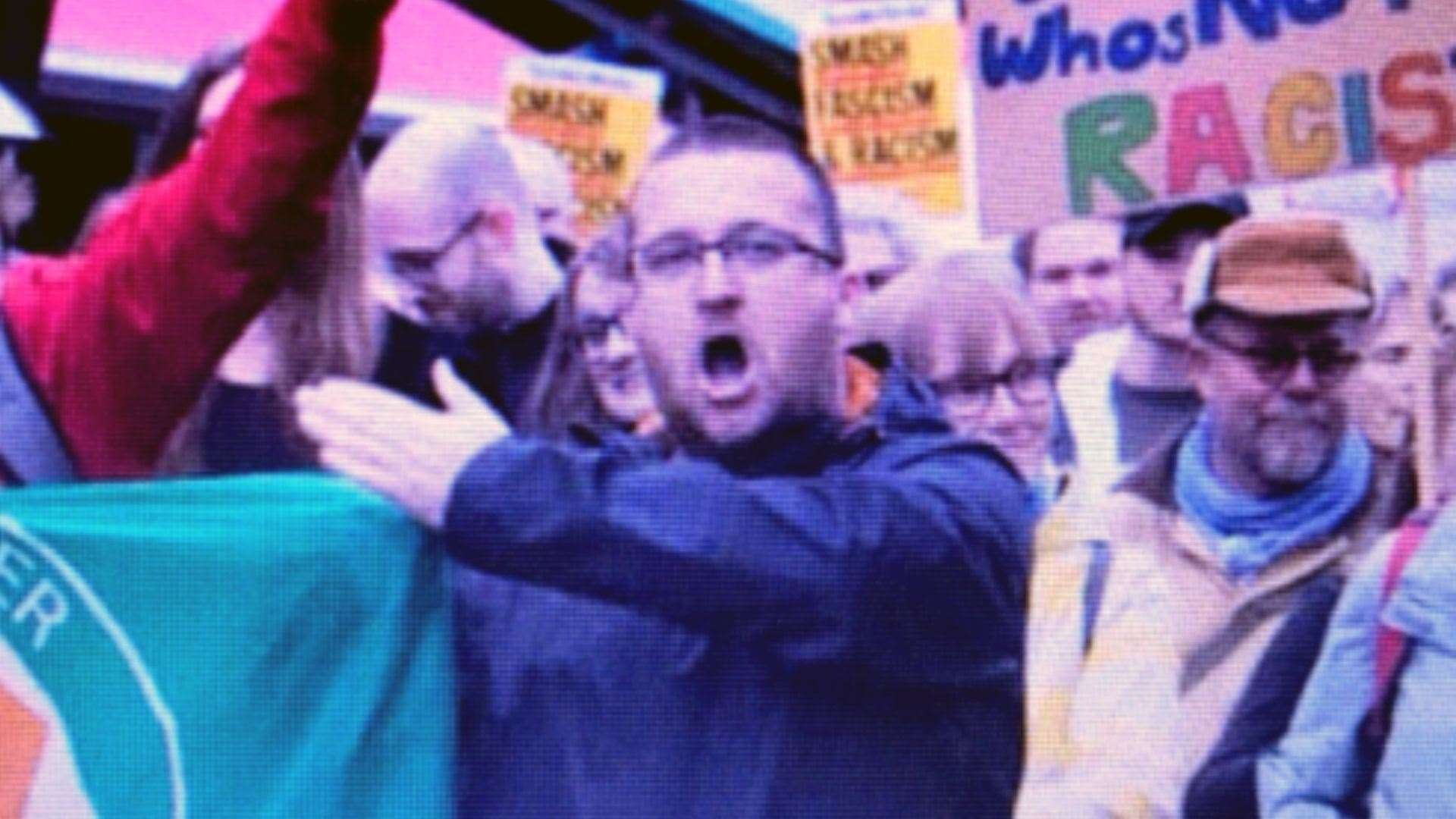 Mr Burman was part of the anti-fascist protesters in 2016