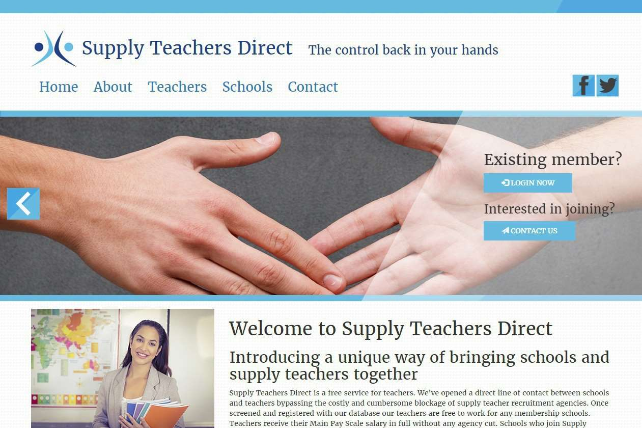 The supplyteachers.direct website