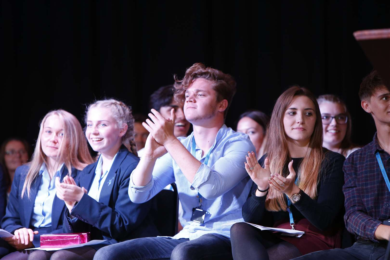 Students enjoying the show. Picture: Andy Jones
