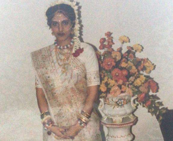 Mrs Patel on her wedding day wearing some of the stolen gold (5793129)