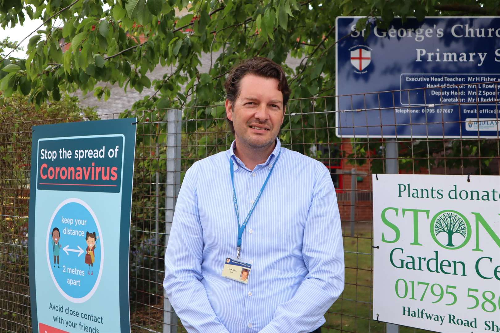 Head teacher Howard Fisher outside St George's Primary School in Minster, Sheppey