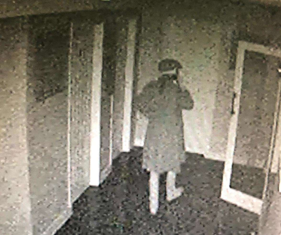 The cloaked man was caught on CCTV (4829655)