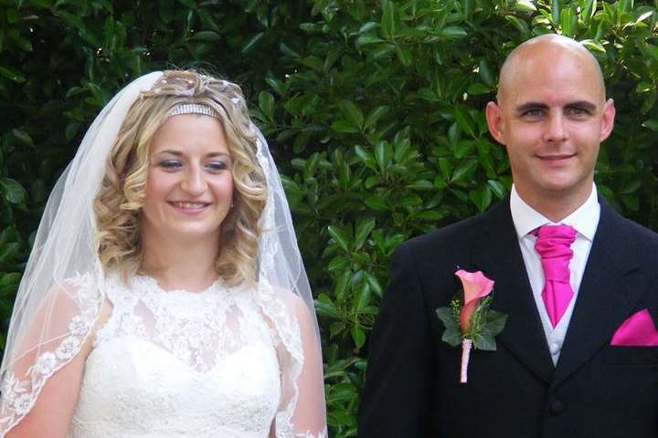 Mariola Cudworth pictured on her wedding day with Jonathon, who has been acquitted of murdering her