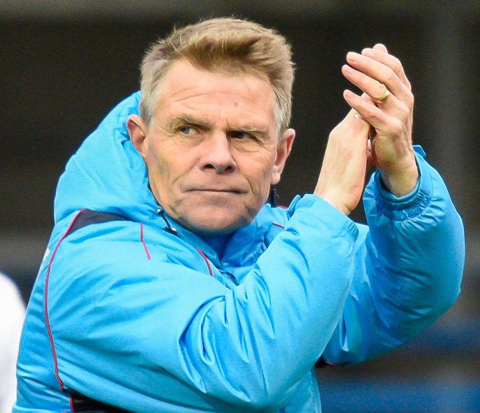 Dover manager Andy Hessenthaler. Picture: Alan Langley