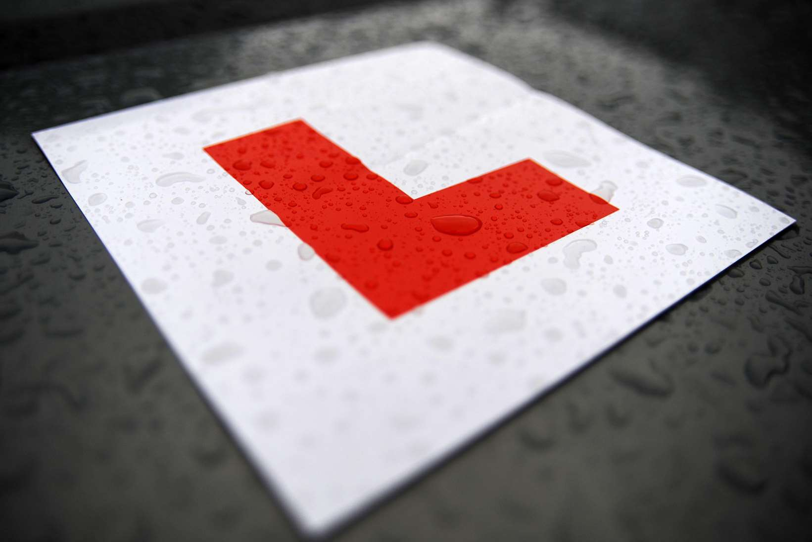 L-plate for learner drivers