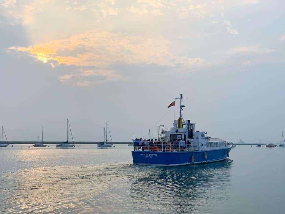 Turning its back on the island - the Spirit of Sheppey sailing off to Dorset. Picture: Island Cruises (40683414)