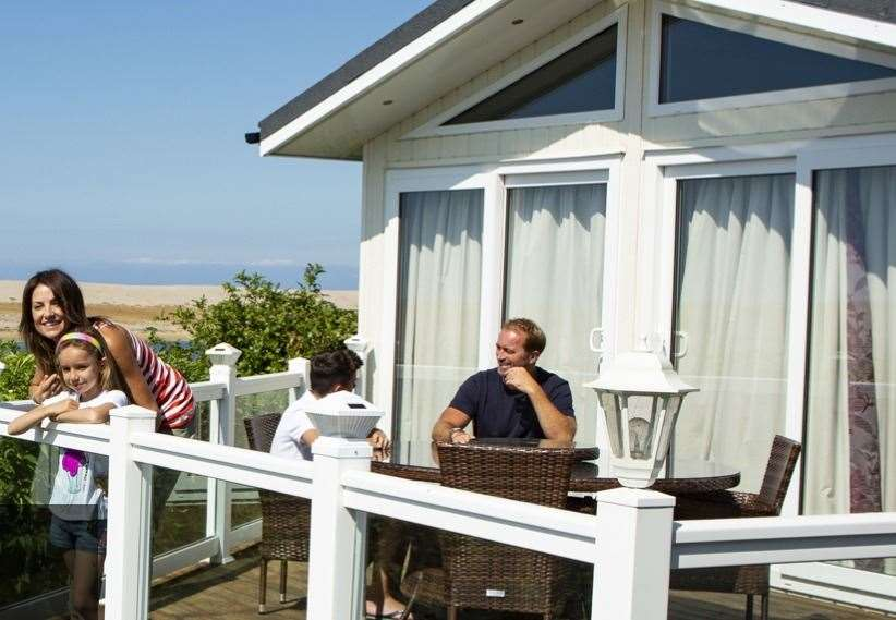 The caravans at Chesil Vista are all modern and luxurious