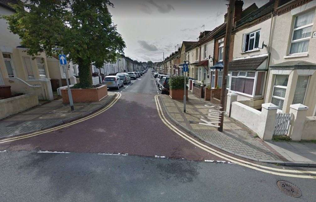 The incident happened in King Street, Gillingham. Picture: Google Streeview