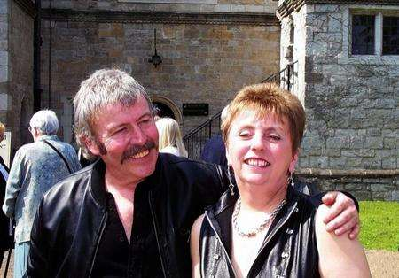 Mike Vercoe, who was killed in Italy in a bike accident, with wife Fay.