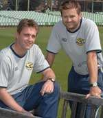 Brad Robinson's (left) work will complement that of first team physio Nimmo Reid