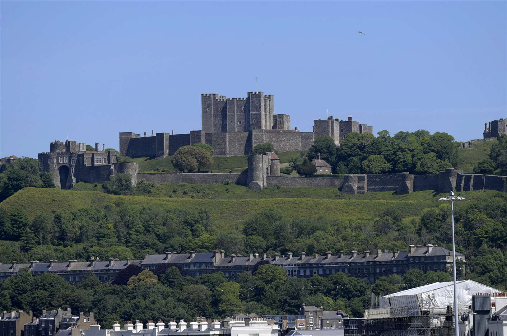 The imposing Dover Castle was built by the Normans in the years after the 1066 invasion