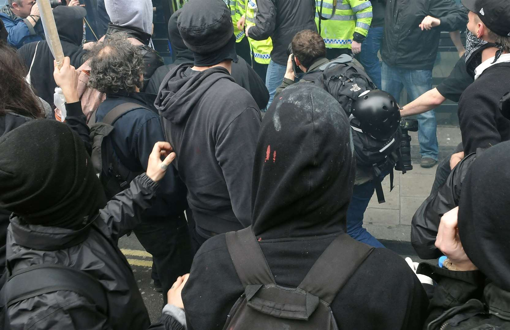 Antifa clashed with Generation Identity in Sevenoaks. Stock picture