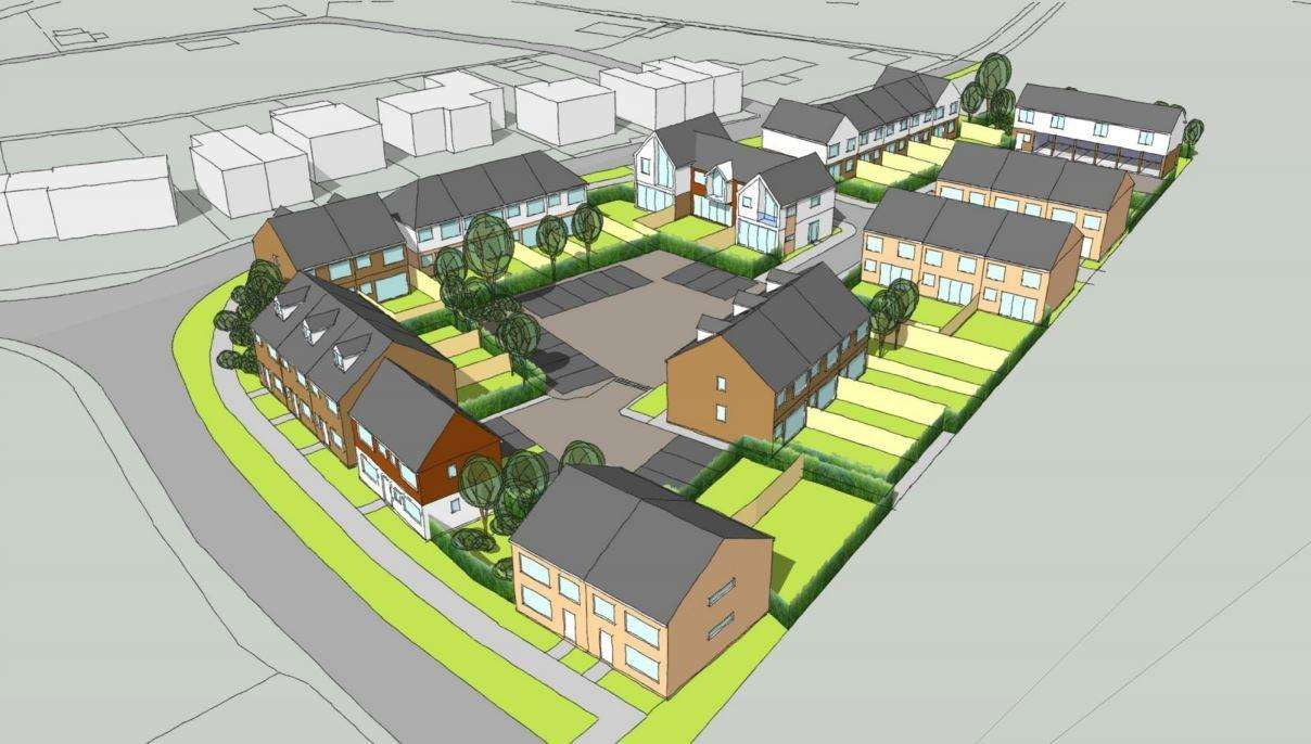 Sketches of the 30 proposed homes in New Romney on Cockreed Lane junction. Credit: Designscape Consultancy Ltd Design and Access statement (5943952)