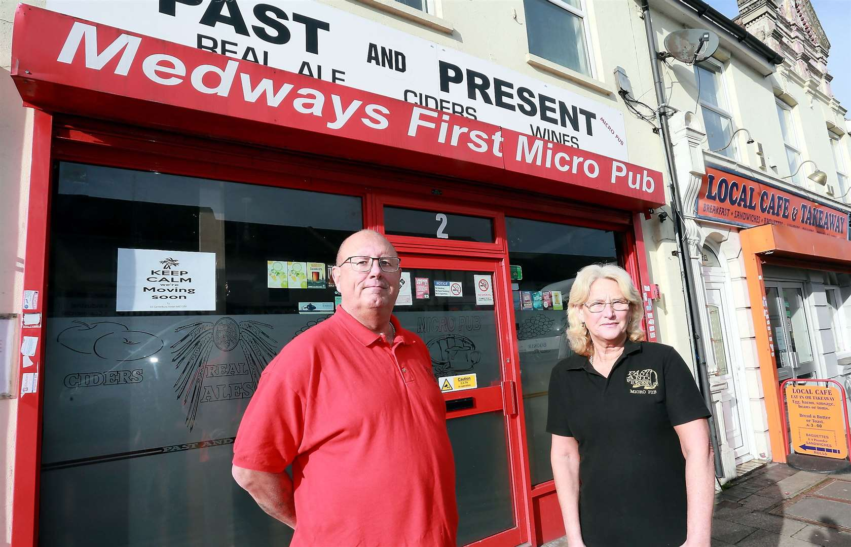 Dave and Lorraine Hallowell run the micropub 'The Past and Present' in Skinner Street, Gillingham. Pictures: Phil Lee