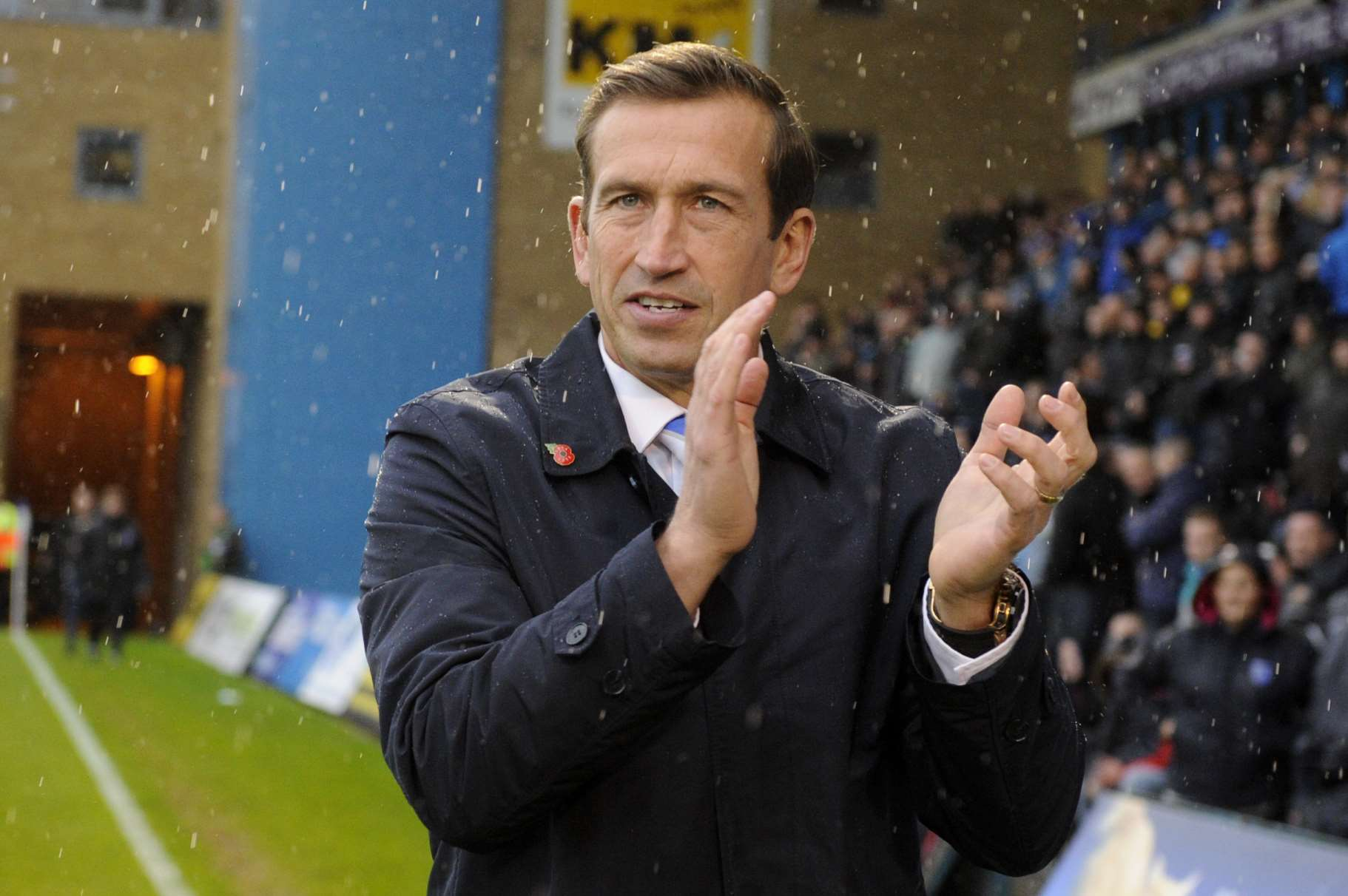 Gillingham manager Justin Edinburgh before his side face Bury, winning 3-1 to go top again Picture: Barry Goodwin