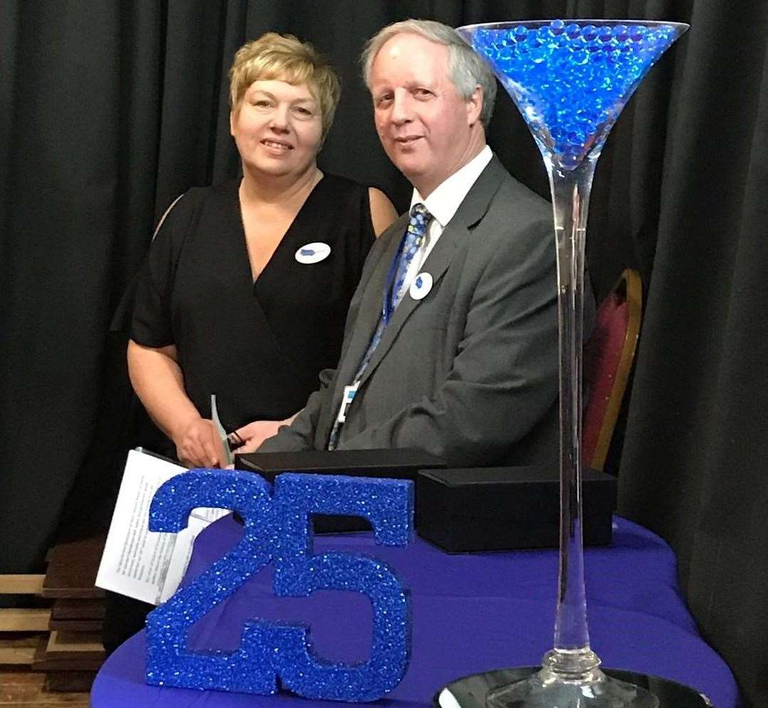 Sheppey Matters chief executive Nigel Martin and Nicola Waghorne at the organisation's 25th anniversary celebrations