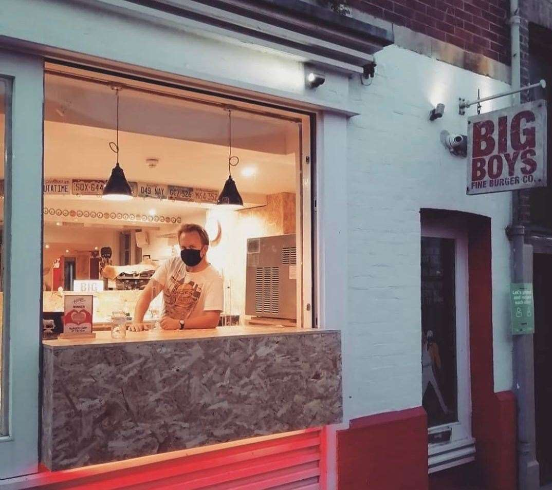 Folkestone's Big Boys Fine Burger Co has banned their local MP over the free school meal vote Photo: Big Boys Fine Burger Co @_big_boys