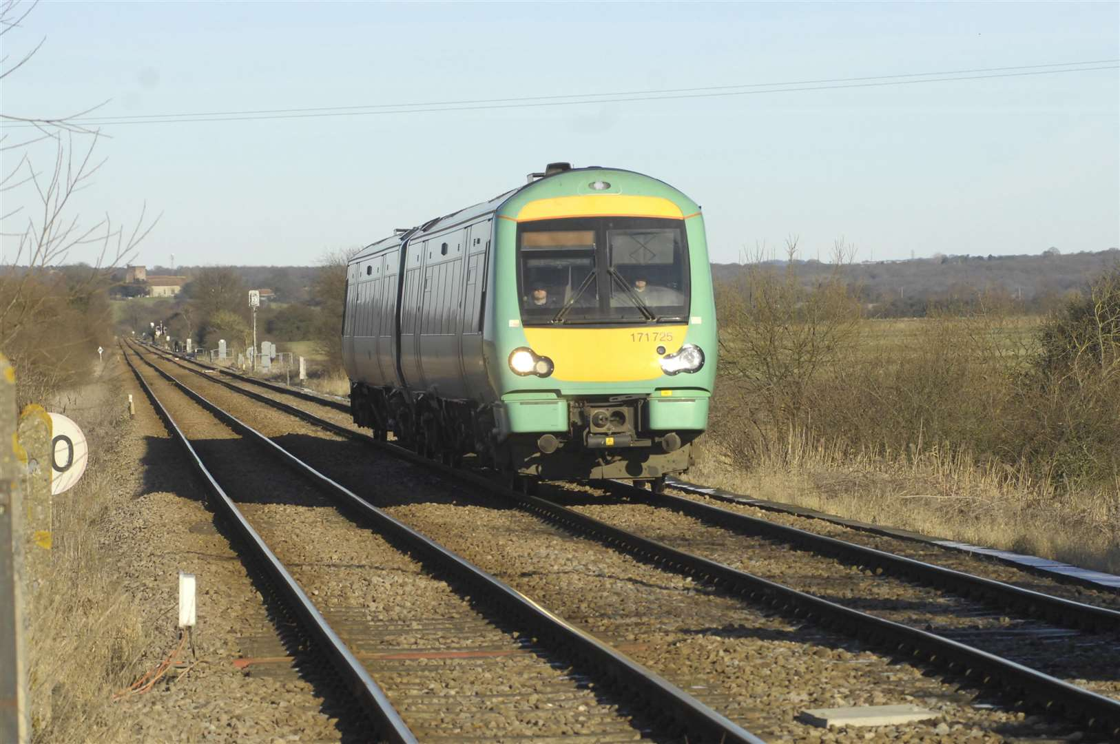 Southern trains heading into Kent have been disrupted this afternoon. Picture: Gary Browne