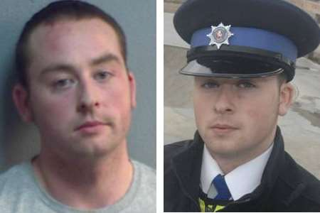Michael Brock, pictured right as a PCSO, has been jailed for six years after attempted rape