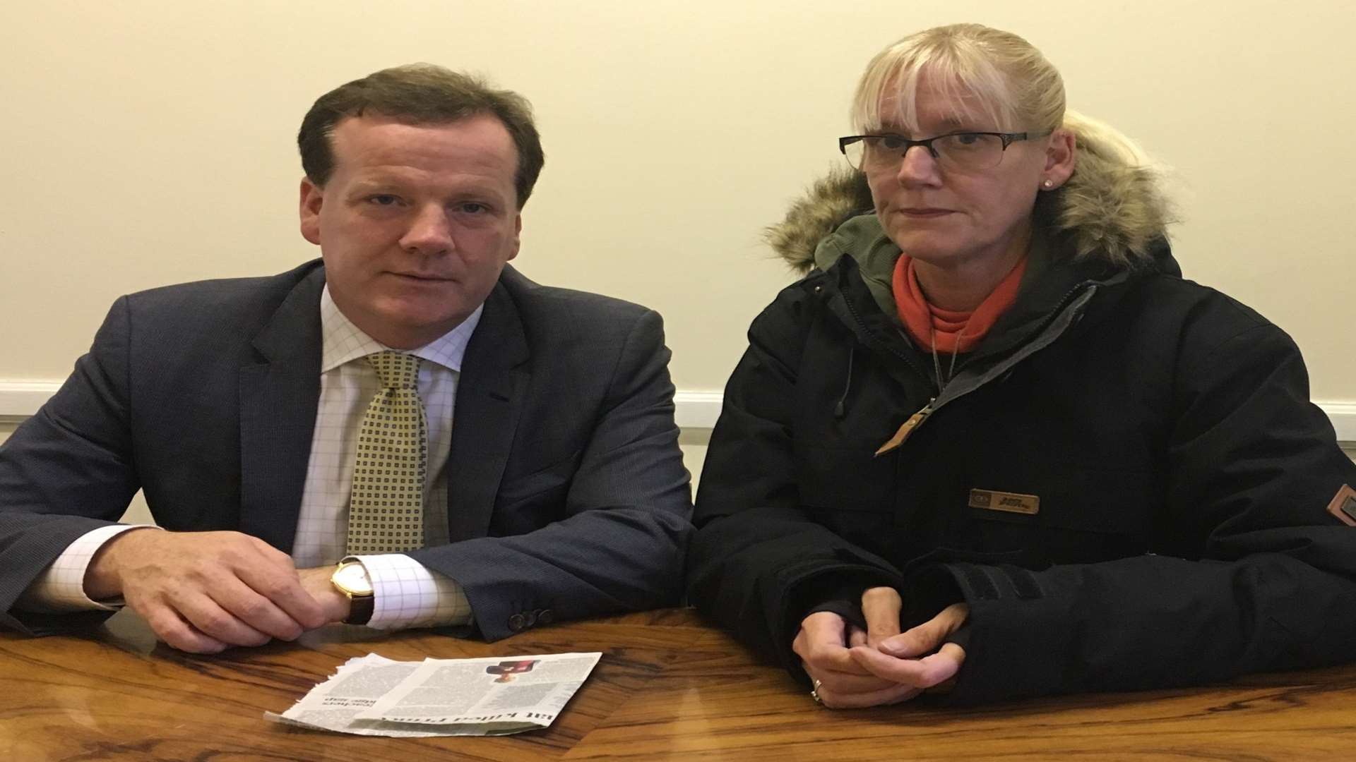 MP Charlie Elphicke and Michelle Fraser