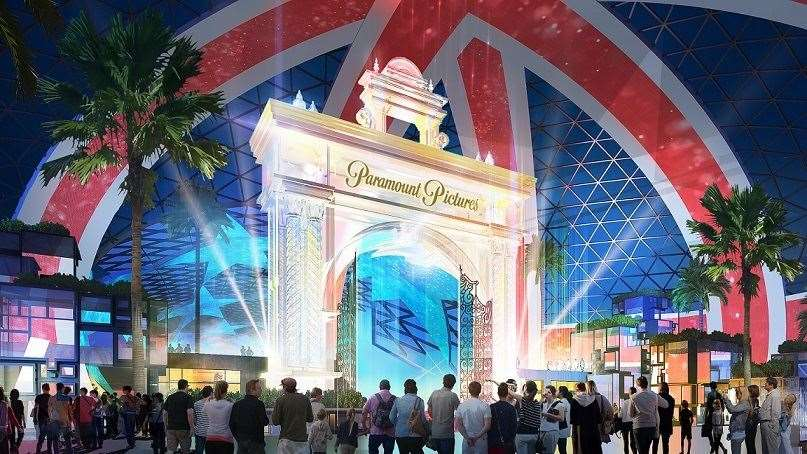 A design of what the entrygate to the London Resort will look like if it opens. Picture: LRHC