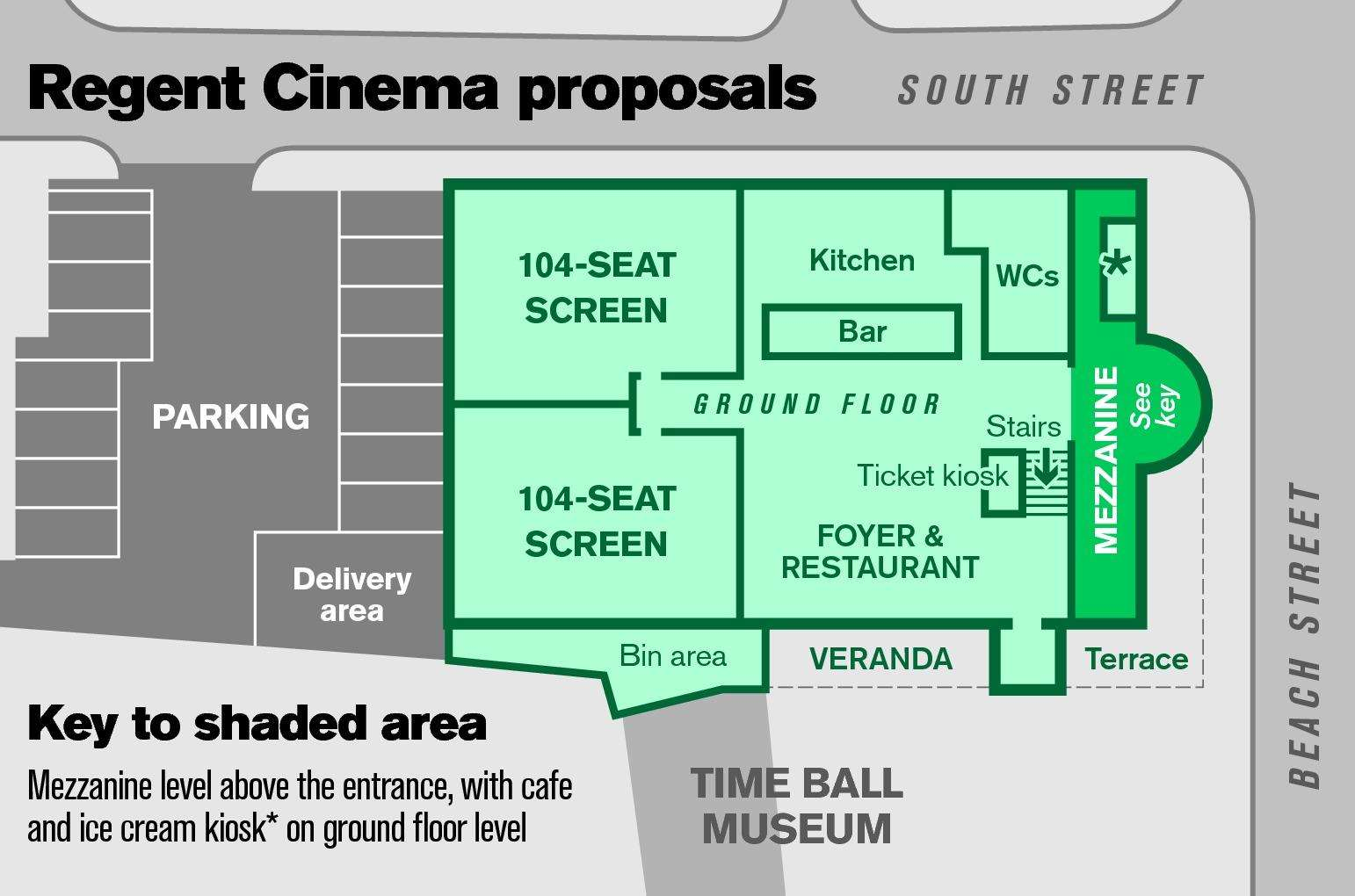 The proposed floorplan for The Regent cinema (6286667)