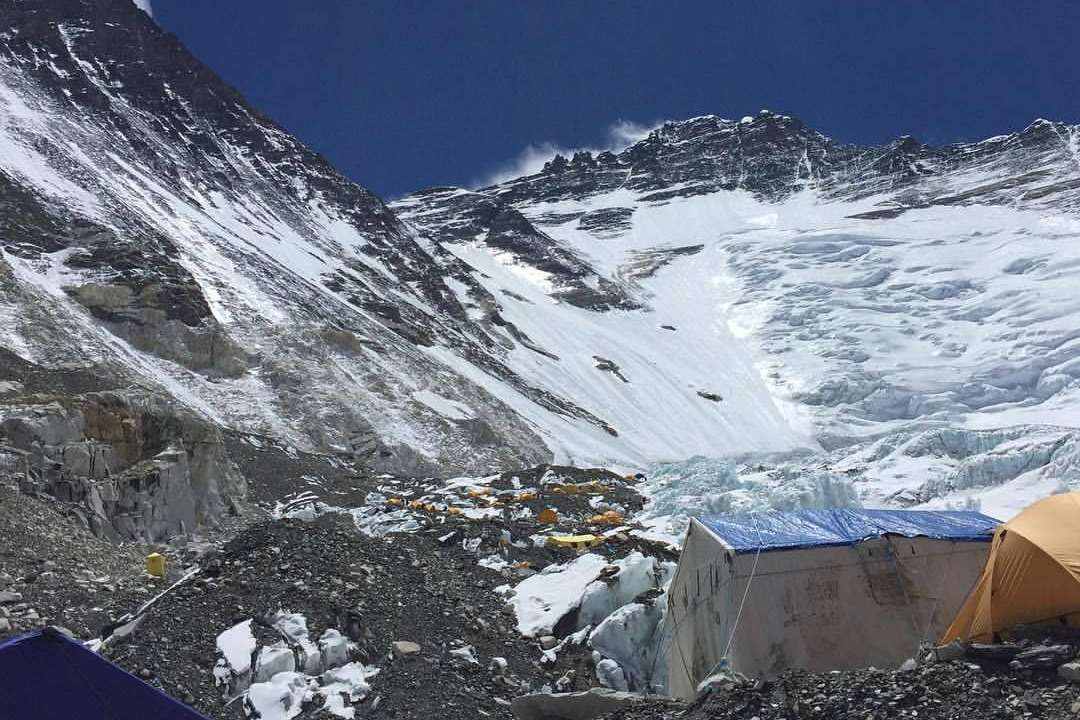 The view from Camp 3 at 7,200m. Picture: Gurkha Everest Expedition 2017