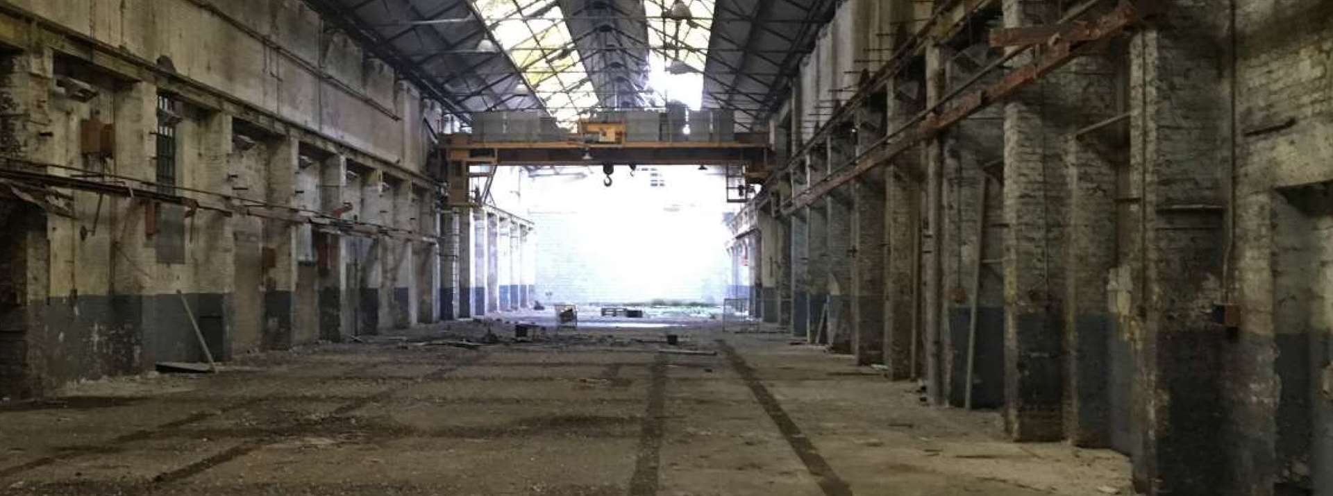 How the former railway works currently look inside