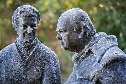 Winston and Clementine Churchill are remembered at Chartwell