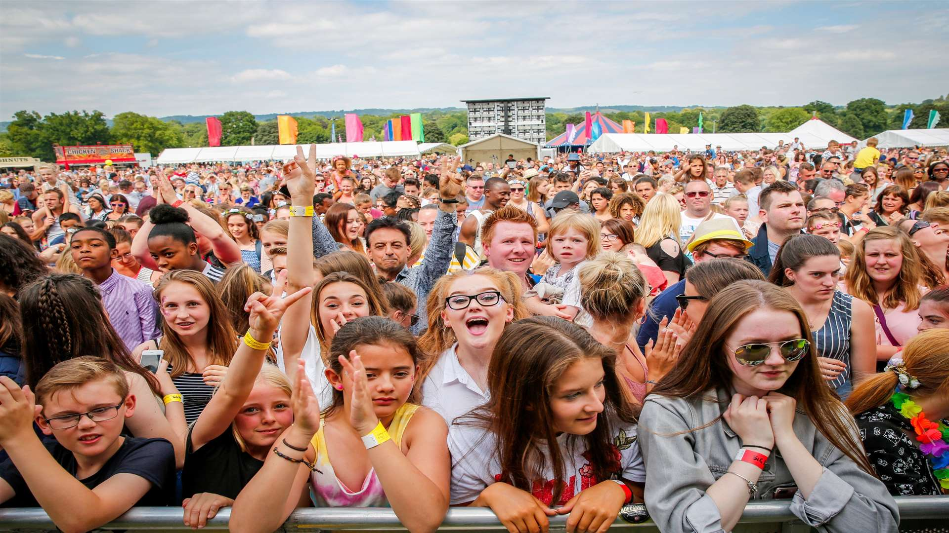 The crowds at last year's Big Day Out in Mote Park Picture: Matthew Walker