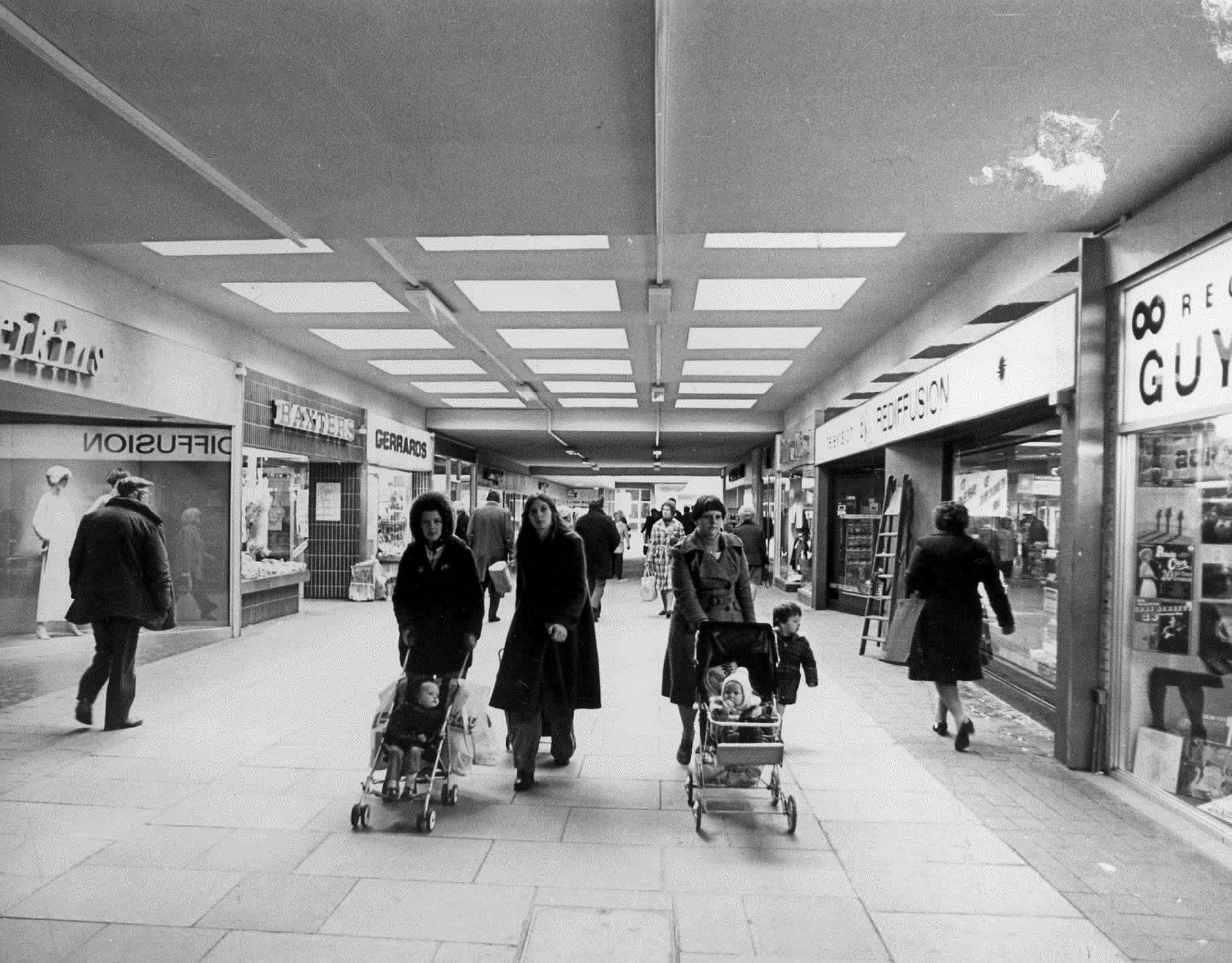 Tufton Shopping Centre in Ashford in February 1977 - now County Square