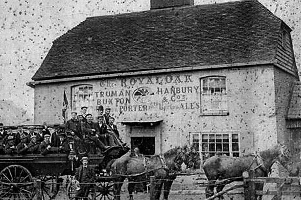 An old photograph of the pub in its heyday