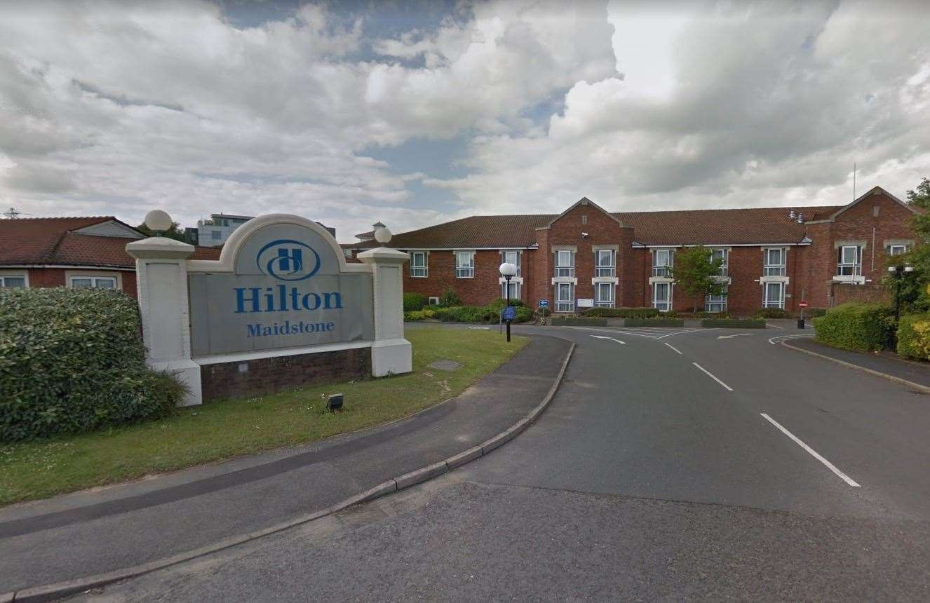 The Hilton Hotel in Bearsted Road, Maidstone